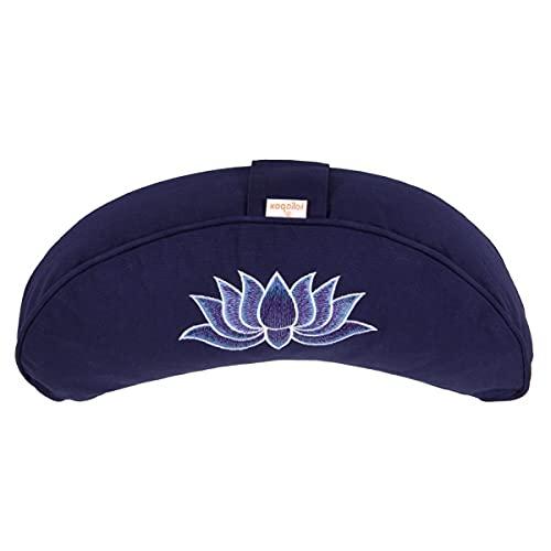 Yogakissen Halbmond Basic Lotus Stick Multicolor, dunkelblau