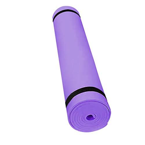YEBIRAL 4MM rutschfeste Yogamatte, Gymnastikmatte Hautfreundliche Fitness Trainingsmatte Haltbare Fitnessmatte Premium Sportmatte Phthalatfrei, SGS geprüft,173 x 61 x 0.4 cm