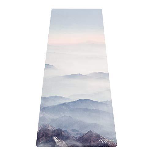 Yoga Design Lab Pendler Yogamatte 1,5mm | rutschfest, Faltbar, Leicht, Matte/Handtuch, Waschmaschinenfest | mit Tragegurt (Kaivalya)