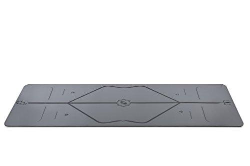 Liforme Reise Yogamatte - Grau - aus umweltfreundlichem Gummi - 2mm dünn - mit Yogatasche