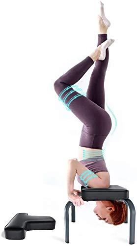 YOLEO Yoga Kopfstandhocker Kopfstandstuhl abnehmbar Hilfe 150kg Tragfähigkeit mit PVC Kissen für Yoga-Übung...
