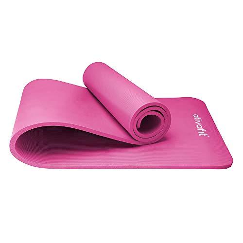 ATIVAFIT Phthalatfreie Yogamatte - rutschfest und gelenkschonend Sportmatte für Yoga Pilates Sport...