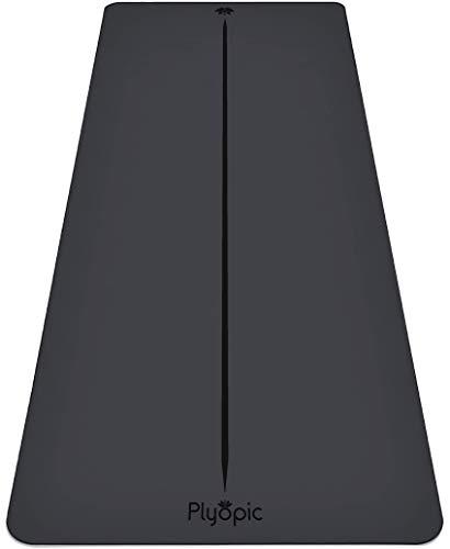 Plyopic Ultra-Grip Pro Yoga-Matte – Unschlagbare Rutschfest Leistung. Komfortabel und Schweißresistent. Ausrichtungslinie. Für Yoga, Pilates, Training, Workout, Bikram und Hot Yoga