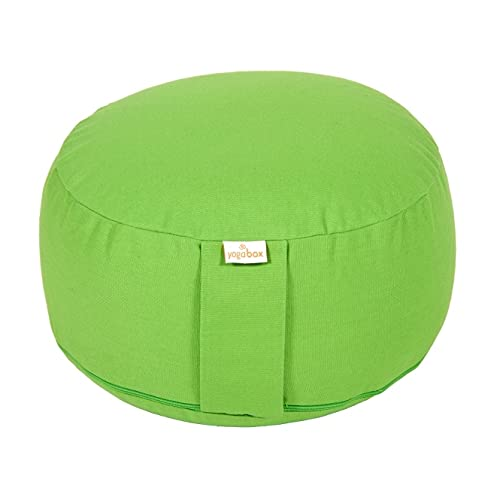 Yogabox Meditationskissen Basic, Bio-Dinkelspelzen (KBA), apfelgrün