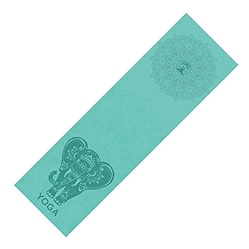 HHBB Rutschfeste Yoga-Decke, Yogamatte, Fitness-Handtuch, bedruckt, für Sport, Reisen, schnelltrocknend, Matte, Pilates-Handtuch, 100 × 30 cm, grau