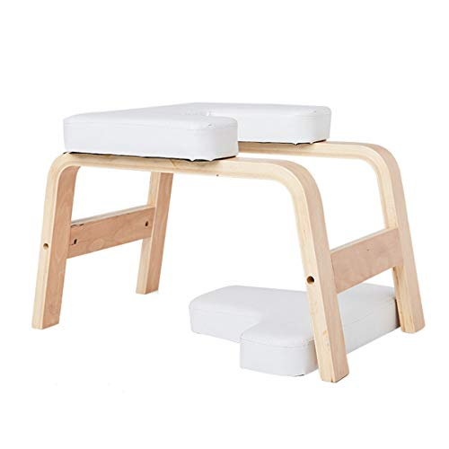 LWKBE Yoga Inversion Bench Headstand Requiside Auf dem Kopfstuhl für Familie und Fitnessstudio, lindert Ermüdung und Bauen Körper, Übungskopfständer, weiß