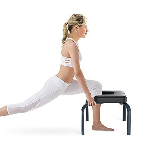 Yoleo Kopfstandhocker, Yoga Stuhl abnehmbar Hilfe Trainer Kopfüber 150kg Tragfähigkeit mit verdickte Kissen...