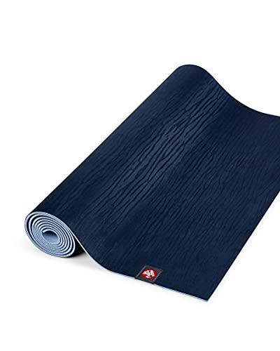 Manduka eKOlite Yogamatte – Premium 4 mm dicke Matte, leicht, hohe Leistung, Halt und Stabilität bei Yoga, Pilates, Fitnessstudio, Fitness, extra lang, 200 cm, Midnight