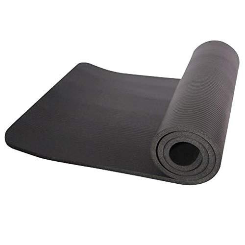 10mm dicke NBR Pure Color Anti-Rutsch Yogamatte 183x61x1cm Schwarz