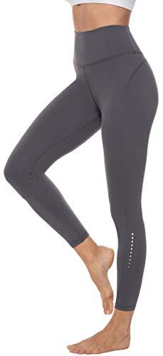 Persit Damen 7/8 Leggings, Sporthose Yogahose Sport Leggins für Damen Yoga Tights,M,Grau