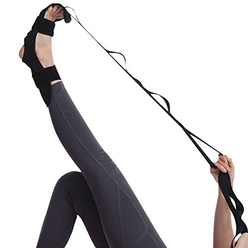 Yoga Dehnungsgürtel, Gymnastikband Yogagurt Verstellbarer Yoga Gürtel Gurt Fitnessbander, für Yoga Stretching, Pilates, Tanz, Gymnastik & geschicklichkeit, Plantarfasziitis und Physiotherapie