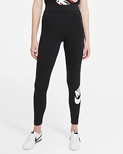 Nike Damen Essential Futura Hr Hose, Black/(White), M