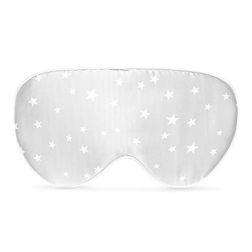 Navaris Schlafmaske Augenmaske Augenbinde aus Seide - 100% Dunkelheit zum Schlafen - für Schlaf auf Reisen...