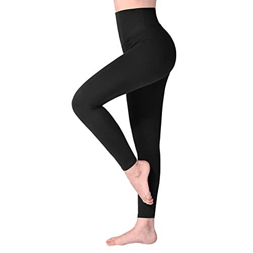 SINOPHANT Hochtaillierte Leggings für Damen - Angenehm Weiche Elastische, Dehnbare Sport- und Yogahosen , 1er...