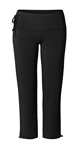 YOGA CURVES Damen Straight Long Pants, Black, 46/48