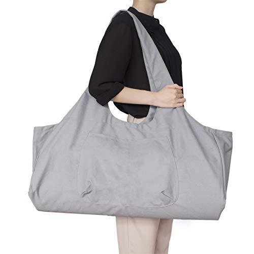 JLDUP Yogamattentasche mit Reißverschluss, große Kapazität für Frauen und Männer, tragbare Yogatasche aus Segeltuch All-in-One-Yogamattentasche mit Taschen