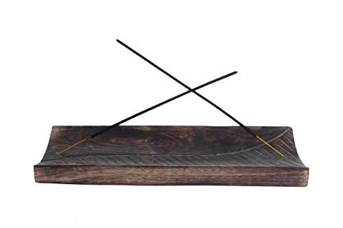 Kaizen Casa Räucherstäbchenhalter aus Holz, Aschefänger, Kerzenhalter, Heimdekoration, Zubehör und Einweihungsgeschenk