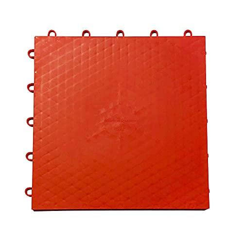 Hockey Revolution Bodenbelag-Fliesen, hohe Haltbarkeit, farbig, Dryland – glatte, ineinandergreifende Trainingsfläche für Stick-Handling, Schießen, Passing (8 Fliesen) rot