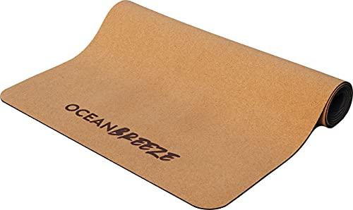 OCEAN BREEZE Yogamatte Kork & Naturkautschuk, natürliche rutschfeste Yoga Matte, 100% nachhaltige, recycelbare Materialien. Ökologische Trainingsmatte schadstofffrei mit Tragegurt für Yoga, Pilates
