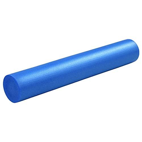 Ksodgun Yoga Schaumstoffrolle Faszienrolle Pilates-Rolle Schaumstoff-Rolle Foam-Roller Selbstmassagerolle 15×90 cm EPE Blau