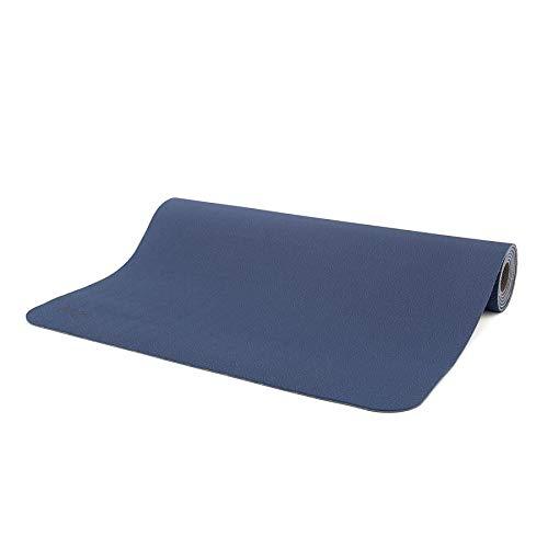 Yogamatte LOTUS PRO LIGHT, leichte, umweltfreundliche TPE Matte, sehr rutschfest und gut für Hot Yoga geeignet (dunkelblau/dunkelgrau)