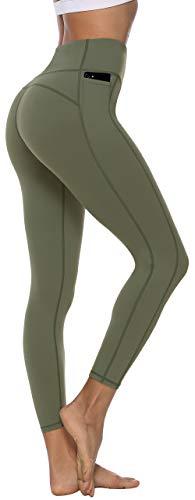 Persit Sporthose Damen, Sport Leggins für Damen Yoga Leggings Yogahose Sportleggins, Olivengrün, 34 (Herstellergröße: XS)