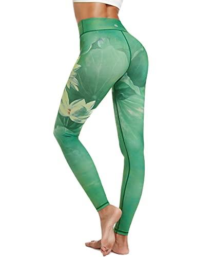 HAPYWER Yoga Leggings Damen High Waist Gym Sport Leggings Tummy Control Yoga Hosen Running Workout...