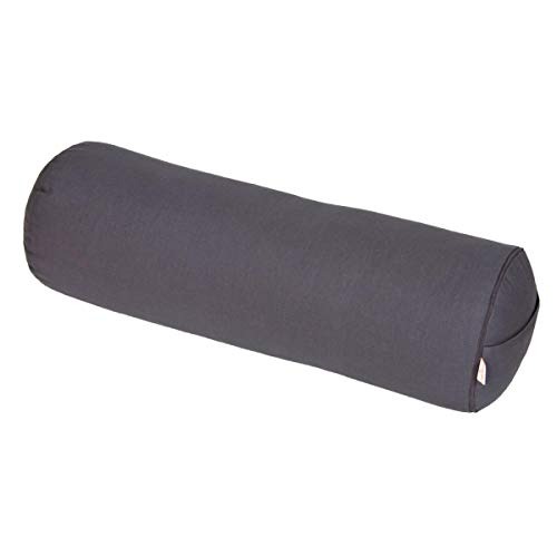 Yoga und Pilates Bolster/Yogarolle Basic, grau