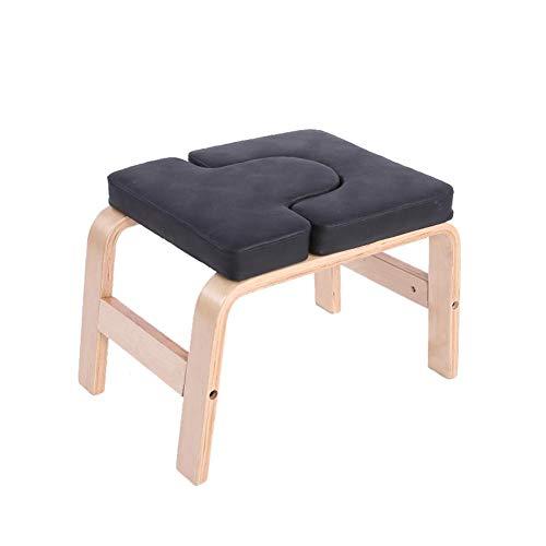 Yoga Hocker Kopfstand Kopfstandhocker Safe Kopfstandstuhl Trainingsstuhl Chair Bank Stuhl ,Holz Und PU...