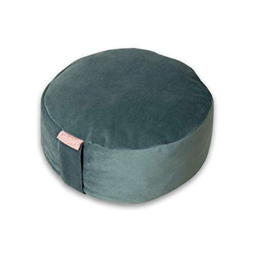 OBOVE Meditation Pillow (Emerald) I Dunkel Grün I Meditationskissen I Samt I Bio Buchweizen Füllung I Nachhaltig u. Hochwertig I Yoga Kissen I Sitzkissen I Startup aus München