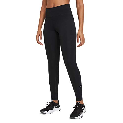Nike Damen One Df Mr Tgt Hose, Black/White, S