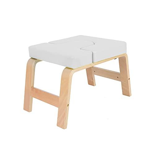 AllRight Yoga Kopfstandhocker Yoga Handstand Bench Stand Multifunktionale Sportübungsbank Übungskopfständer für Ermüdung Entlasten und Körper Bauen (Weiß)