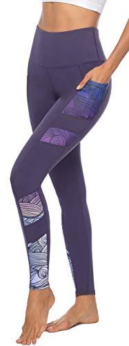 Persit Sporthose Damen, Yoga Leggings Laufhose Yogahose Sport Leggins Tights für Damen,Violett,38-40...