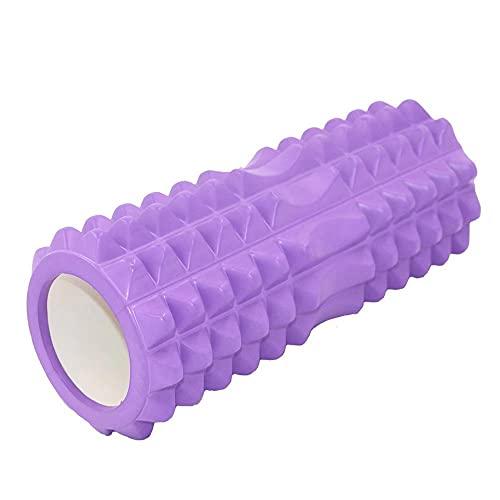 QStcy Faszienrolle Mittel-Hart Pilates Rolle inkl. Fitnessband + Gratis Übungsposter – Multifunktionale Schaumstoffrolle ideal für Muskelkräftigung & Massage der Faszien Roller