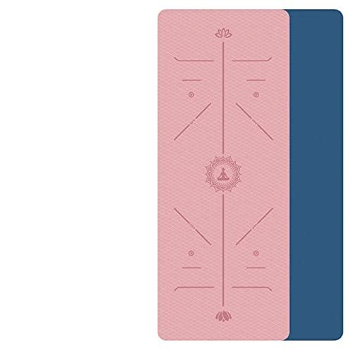 lgnoran Yogamatte TPE Mit Positionslinie rutschfeste Teppichmatte Geeignet Für Anfänger Umweltfitness Gymnastikmatte