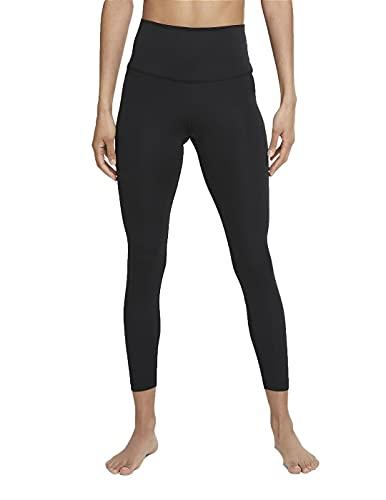 Nike Damen The Yoga 7/8 Leggings, Black/Dk Smoke Grey, S