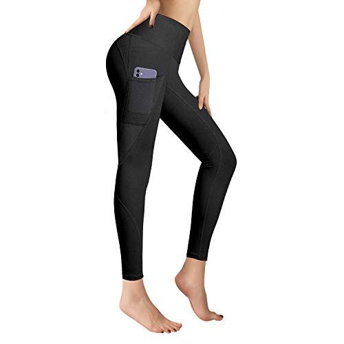 RaMokey Sporthose Damen Yogahose Fitnesshose Laufhose Yoga Tights Sport Leggings für Damen mit Taschen(XL)