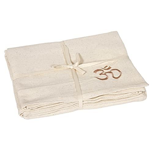 Yogadecke SHAVASANA robuste Baumwolle, Natur