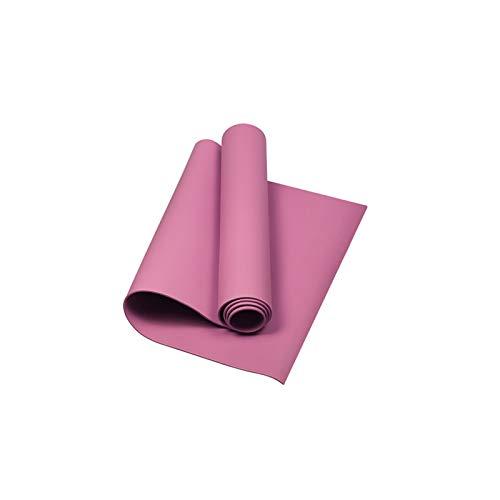 Yogamatte Rutschfest 4MM Premium Fitnessmatte Naturkautschuk Tragbar Gymnastikmatte für Pilates Fitness mit Schultergurt