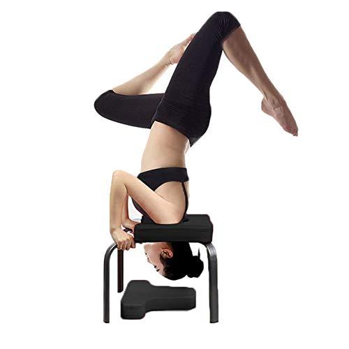 Yoga Handstand Bench Yoga Kopfstandhocker, Stand Yoga Stuhl für Familie, Stahlrohr und PU-Pads,...