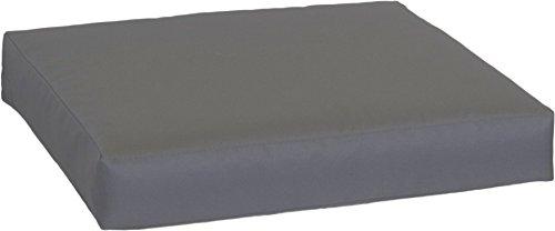 Beo Palettenkissen 60x80 - Wasserabweisendes Sitzkissen für Palettenmöbel   Made in EU Palettenkissen Outdoor UV-beständig in Anthrazit   Europaletten Polster Waschbar   Paletten Sitzkissen Glatt