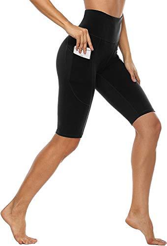 Anwell Yoga Pants Damen Blickdicht kurz Sporthose Hohe Taille mit Tasche Thermo Kurze Hose Push up Yogahose...