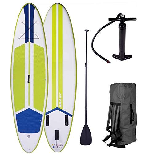 SUP Board Stand up Paddle Paddling Surfboard Galaxy Grün 300x76x15cm aufblasbar Alu-Paddel Hochdruck-Pumpe...
