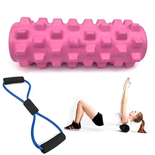 Faszienrolle, Yoga Säule Pilates Rolle Faszienrolle Sport Schaumstoff Rolle, zum Faszien Training der Muskeln und Schmerztherapie Schaumstoffrolle (Rosa)