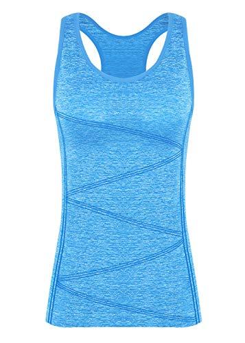Disbest Damen Sport Tanktop, Sport Fitness Running Tops pro ärmellos Quick Dry Training Tank Tops(Power blau...