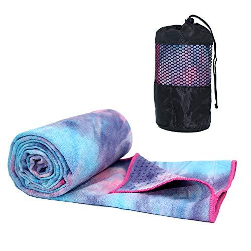 ATIVAFIT Yoga Handtuch Fitnesstuch mit Silikageln - Weich, Atmungsaktiv, rutschfest & Schnelltrocknend -...