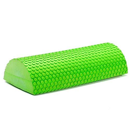 kristy 30/45cm Yoga Roller Pilates Rolle Eva Foam Roll Halbrunde Massage Mit Massage-Fließpunkt Für Yoga Pilates Fitness, Pink/Blau/Lila/Grün
