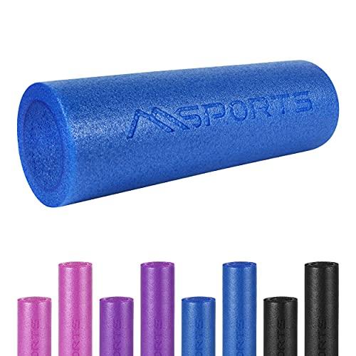 MSPORTS Yoga Rolle Premium   Pilates Rolle - 45 x 15 cm oder 90 x 15 cm - Faszienrolle (Blau, 90 x 15 cm)