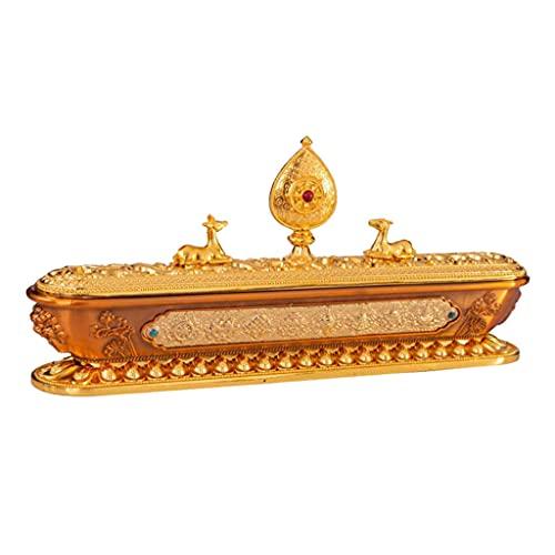 Hellery Weihrauchbrenner Weihrauchhalter Metall Weihrauchhalter Golden
