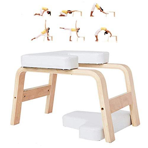 KIMCC Yoga Kopfstandhocker,Head-Stand Für Yoga-Starter-Sets,Yoga Stuhl Decompression in Neck Mit Holz Und...